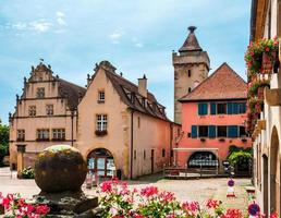 Buildings in the medieval city of Rouffach in Alsace, France photo
