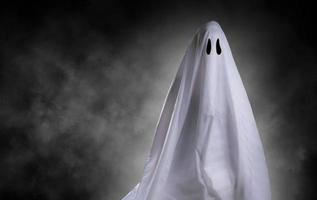 white ghost on backgroud photo