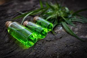 Oil cannabit in bottle photo
