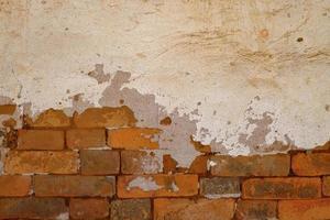 Fondo de textura de hormigón de pared de ladrillo sucio viejo foto