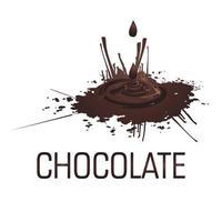 liquid chocolate splash illustration vector