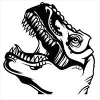 t rex dinosaur head illustration vector