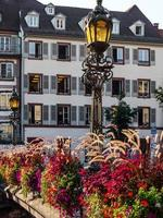 Buildings in a park in the city of Strasbourg, France photo