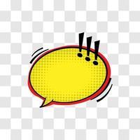 cuadro de diálogo estilo popart cómico vector