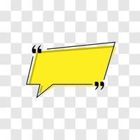citas marco estilo simple color amarillo vector