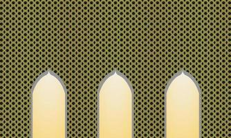 Islamic metal background vector template
