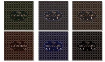 Eid mubarak Social media post free vector template