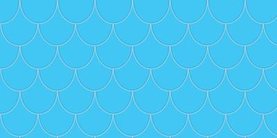 seamless pattern with blue Fish Scales free vector