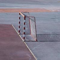 old street soccer goal sports equipment photo