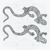 Reptile Mandala. Vintage decorative elements. Vector illustration.