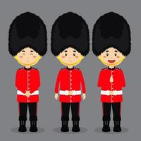 British Character with Various Expression vector
