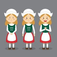 Germany Character with Various Expression vector