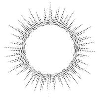 Bursting rays. Sunburst frame. Abstract equalizer element vector