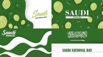 Saudi arabia independence day background illustration vector