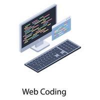 Web Coding Concepts vector