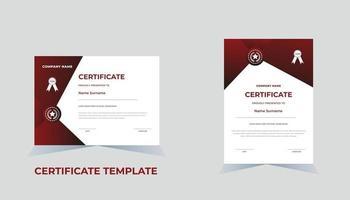 Certificate of Appreciation template diploma certificate template vector