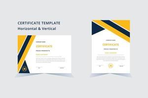 Certificate of appreciation template achievement certificate design . vector