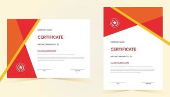 certificado de reconocimiento creativo plantilla de premio con color azul vector