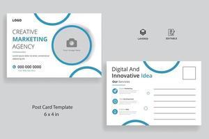 Corporate business postcard template design vector