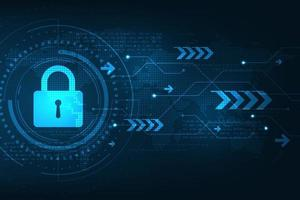 Vector background secure digital security system.