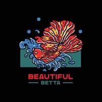 betta fish illustration vector