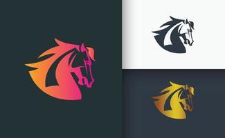 Horse logo design set template vector