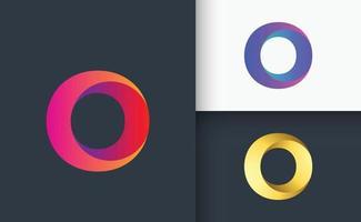 O letter logo 3d type logo vector