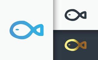 plantilla de conjunto de diseño de logotipo de pescado vector