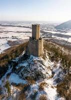 El castillo de Ortenburg en los Vosgos, Francia foto