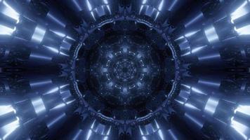 túnel con adorno en forma de cristal video