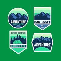 set of adventure badge vector illustration