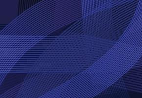 Abstract modern wave curve line with dark blue template background vector