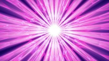 Rayos púrpuras y rosados en túnel abstracto video