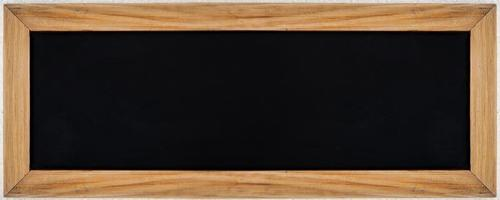 black or chalk board with wood frame for text menu and label advertising billboard photo