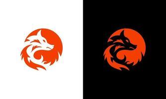 Creative Vector of a fox head logo design Animals graphic illustration