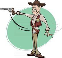 personaje de vaquero del salvaje oeste de texas vector