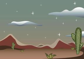 escena del desierto del salvaje oeste de texas con cactus vector