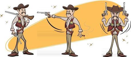 personaje de vaquero de texas vector