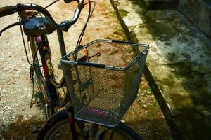 Kebumen, Indonesia - Close-up photo of an old othel bicycle that looks well-groomed and remains classic
