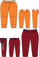 Women Softball Belted Pants vector