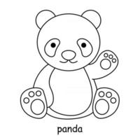 children coloring on the theme of animal vector, panda vector