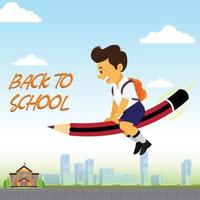 Poster of Back to School with Boy vector
