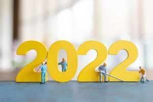 Equipo de trabajadores de personas en miniatura número de compilación 2022 foto