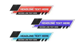 News Lower Thirds Pack. Headline breaking news template vector