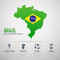 Brazil Infographics. Flag of Brazil. Public Relations Brazil. vector