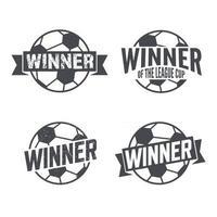 Soccer Football Winner. Stamp Badge Design. Vector illustration