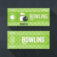 Bowling Ticket Card modern element design. vector illustration