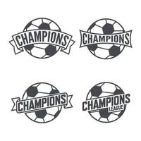 Football and Soccer Champions Signs. Vector illustration