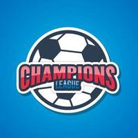 Football Champions League Signs. Vector illustration