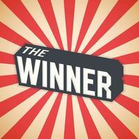 The Winner, Poster Design. Vector illustration